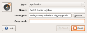 Settings for switching Audio